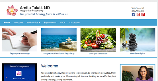 Website Design for Amita talati MD