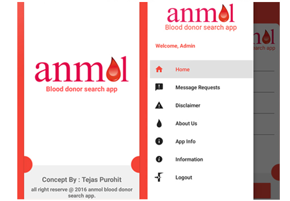 App design for Anmol Blood Finder