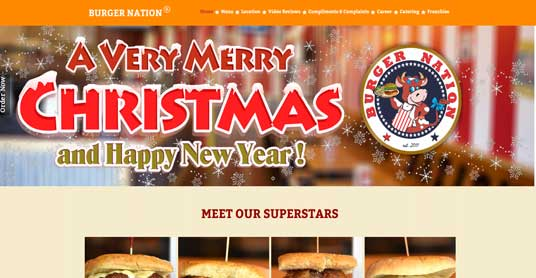 Website Design for Burger Nation