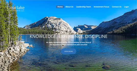 Website Design for Clearlake Management