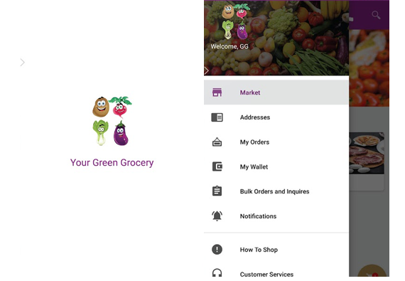 App design for Green Grosery