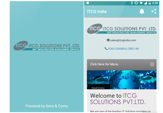 App design for ITCG India