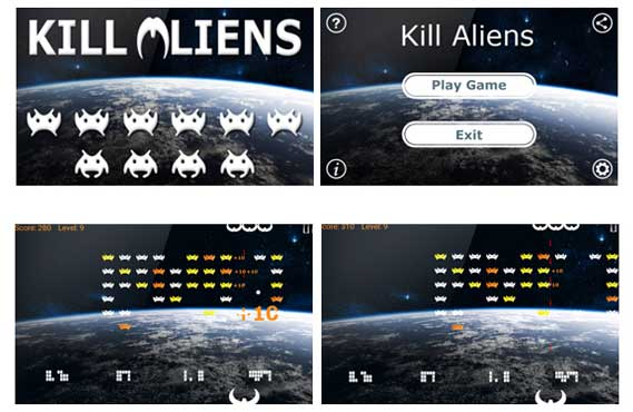 App design for Kill Aliens