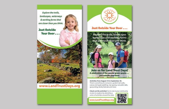 Graphic Design for Land Trust Days - rack Card