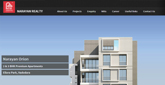 Website Design for Naryan Realty