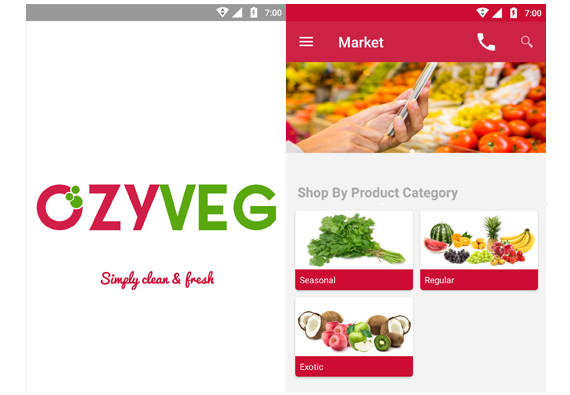 App design for Ozy veg