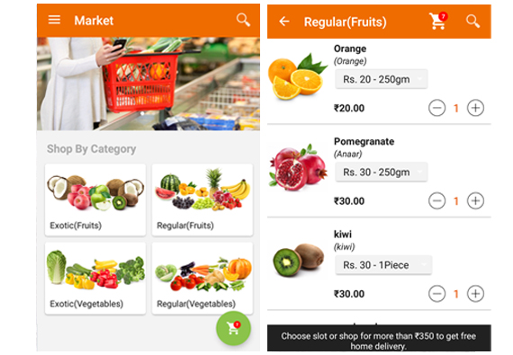 App design for Sabji App