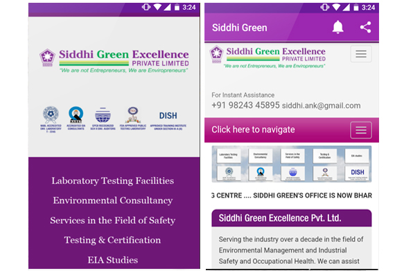App design for Siddhi Green