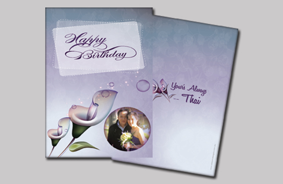 Graphic Design for Thai Wedding card